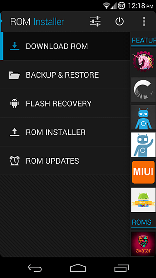 ROM Installer for Android 01b