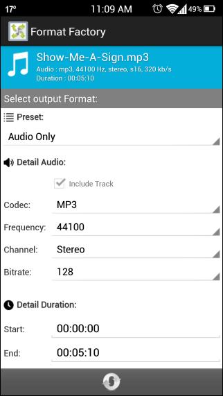 Format Factory Audio