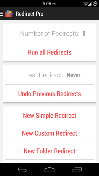 Redirect File Organizer for Android 01