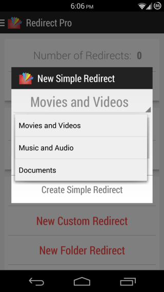 Redirect File Organizer for Android 02