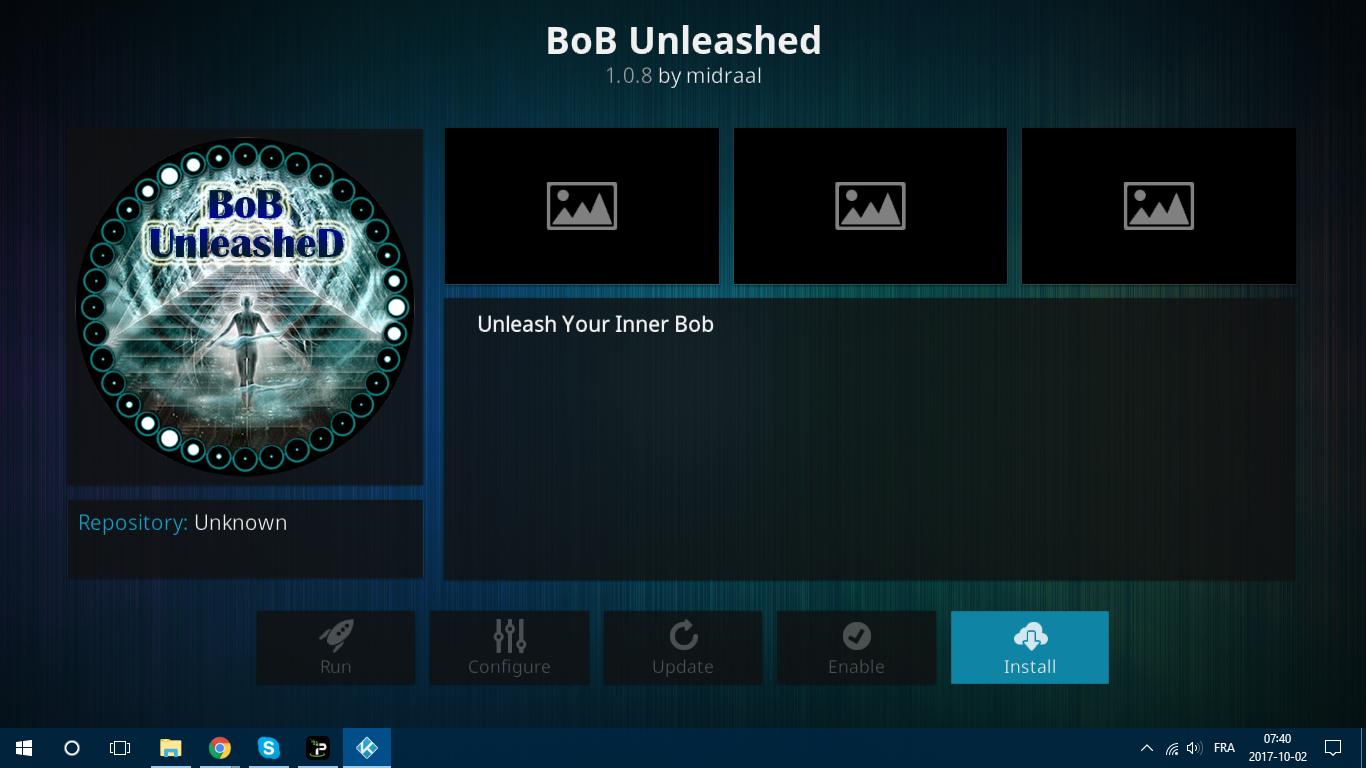 BoB Unleashed Screen