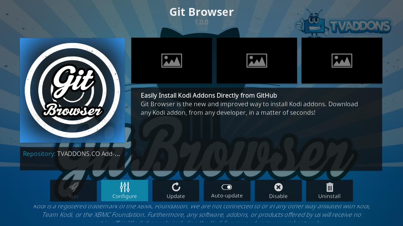 Git Browser Information
